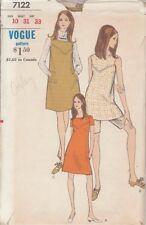 Vintage Vogue coordina patrón de costura 7122 Tamaño 10