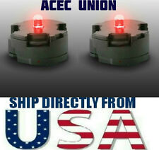 2 X High Quality MG 1/100 QANT Raiser Gundam RED LED Lights - U.S.A. SELLER