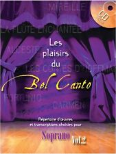 Les Plaisirs Du Bel Canto Soprano Volume 2 Learn to Play MUSIC BOOK & CD