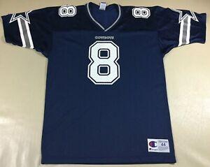 Vintage Dallas Cowboys Troy Aikman #8 Football-NFL Champion Jersey Size44