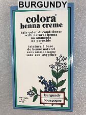 COORA HENNA CREME HAIR COLOR & CONDITIONER W/ NATURAK HENNA : BURGUNDY