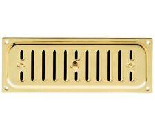 Carlisle Brass Hit And Miss Brass Vent With Radius Corners, Polished Brass - HM4