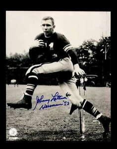 Johnny Lattner Hand Signed 1953 Heisman Autograph