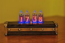IN-14 Nixie Tube Retro  Clock Assembled Tested Wooden Case Adapter 110/240V