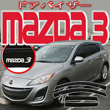 MAZDA3 5 DOOR HATCHBACK 10 11 12 13 WINDOW DEFLECTORS SUN VISOR + J-SPEC LOGO