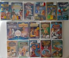 Lot of 16 Factory Sealed Disney VHS Tapes Bambi Sleeping Beauty Peter Pan...