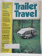Trailer Travel Magazine April 1974 Motorhomes Travel Trailers Campers Folding