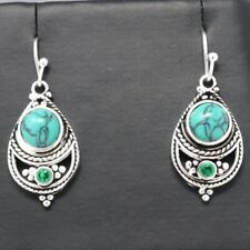 Vintage Antique Blue Turquoise Earring Women Wedding Engagement Birthday Jewelry