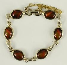 """VINTAGE Costume Jewelry 1970 SARAH COVENTRY Wood Nymph Bracelet 7.5"""" Long"""
