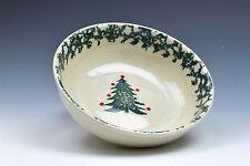 "Folk Craft Winter Wonderland Tienshan Christmas Tree Soup Salad Bowl(s) 6.5"""