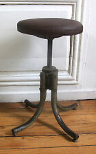 Stool workshop BENNETT seat faux leather - loft industrial -all original