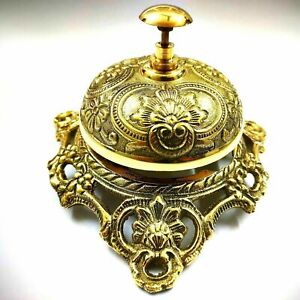 Antique Vintage Designer Table Top Brass Bell Decorative Collectible