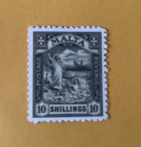 MALTA. 1922. ST.PAULS SHIPWRECK. 10/-. REPRO.