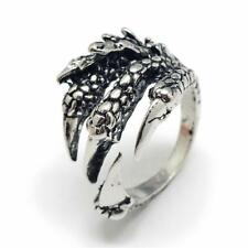 Ring Drache Drachen Klaue Adler Klauen Kralle Krallen Dark Silver Silber Neu IV