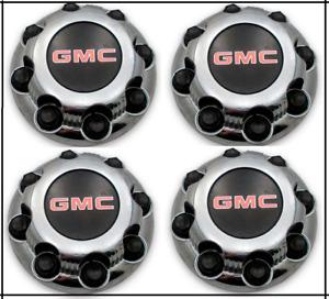 8 LUGS NEW GMC SAVANA SIERRA YUKON XL CHROME WHEEL CENTER CAPS ALUMINUM RIMS