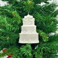 "*SAMPLE SALE* WEDDING CAKE RESIN CHRISTMAS ORNAMENT 4.75"" (WH4)"