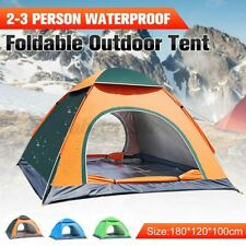 US 2-3 Person Instant Up Auto Camping Tent Waterproof Outdoor Hiking Travel +Bag