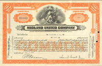 Midland United Company > 1930  stock certificate share