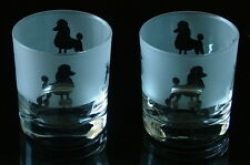 Poodle Dog Whisky Glasses by Glass in the Forest.