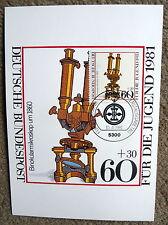 Maximumkarte BRD Nr. 11 / 1981 mit M 1092, Binokularmikroskop, Jugendmarke