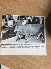 m6-2 ephemera 1970  picture punch alan herbert cashes cow cheque