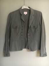 Whistles Womens Khaki Green Military Style Jacket With Buttons