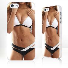 Chica Bikini negro y blanco caliente funda de teléfono encaja iPhone