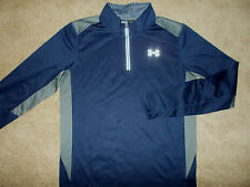 NEW UNDER ARMOUR INFRARED COLD GEAR 1/2 ZIP LONG SLEEVE FITTED SHIRT MENS MEDIUM