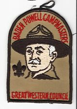 BOY SCOUT   GREAT WESTERN CNCL   CAMPMASTER PP              CAL