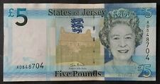 Jersey 5 Pounds Livres uncirculated banknote Unc