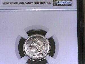 U S 1874 THREE cent  Nickel MS 64