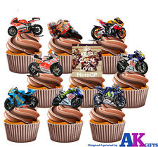 Moto GP Ducati Honda Yamaha Mix PARTY PACK  36 EDIBLE WAFER CUP CAKE TOPPERS