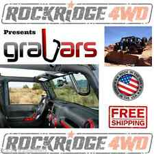 Jeep Wrangler JK & JKU 07-15 Front GraBars HARD MOUNT SOLID STEEL GRAB HANDLES