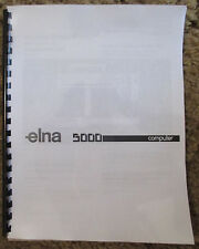 Elna 5000 Computer Sewing Machine Users Guide Owners Instruction Manual Book