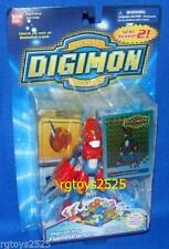 "DIGIMON Digivolving FLAMEDRAMON New 6"" w Trading Card Factory Sealed 2001"