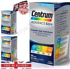 CENTRUM ADVANCE 50 plus Multi Vitamin Centrum 50+ 100 Tablets x1, x2 x4 UK FREE