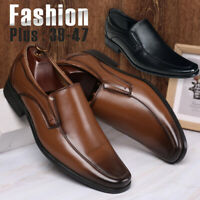 Men's Casual Oxfords Wedding Leather Shoes Pointed Toe Formal Office Work Shoes