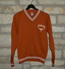 Mens Vintage VTG 1980s Texas Longhorns V-Neck Sweatshirt Small Austin ATX Bevo