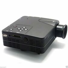 Mini Projector Home Theater 1080P AV/USB/VGA/HDMI/SD 80 Lumens LED LCD Portable
