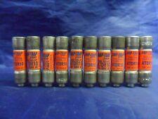 Nice Lot Shawmut ATDR 10 Amp Fuses Amp Trap Bussmann LP CC 10 Class CC 600 Volt