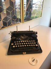Vtg Underwood 3-bank Antique Typewriter Schreibmaschine Máquina de Escrever Rare