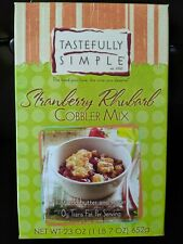 STRAWBERRY RHUBARB COBBLER MIX 1 POUND PLUS BOX TASTEFULLY SIMPLE BRAND NEW!!!!