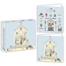 Beach Hut - Cartes Paquet - 8 de Notes / Enveloppes - 2 Modèles - Sally Swannell
