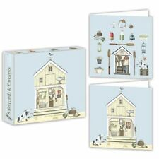 beach hut - Tarjeta Paquete - 8 TARJETAS/SOBRES - 2 Diseños - Sally swannell