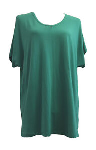 *NWT* BEME Ladies Size 16-18 Green, Short Sleeve Cut-Out T-Shirt Top