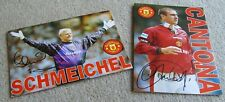 Eric Cantona & Peter Schmeichel Manchester United used Birthday cards