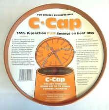 """CCAP Terracotta Chimney Capping Cowl fits disused Chimney Pots Up To 13"""" 330mm"""