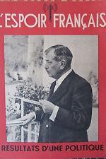 WW2 L ESPOIR FRANCAIS PIERRE LAVAL RESULTAT D UNE POLITIQUE DOCUMENT PROPAGANDE
