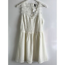 H&M WHITE LACE DRESS - Size UK18/US14/EUR44
