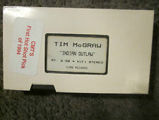 """TIM McGRAW """"INDIAN OUTLAW"""" 1994 RARE UNPLAYED CURB RECORDS VHS PROMO VIDEO TAPE"""